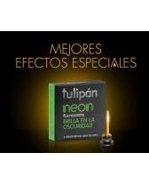 Preservativos Tulipan Neon Fluorescentes x 3 unidades