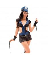 Disfraz sexy de fantasía Policia Kate