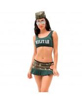 Disfraz sexy de fantasía de Militar Sara