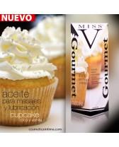 Aceite para masajes eróticos y lubricante íntimo Miss V cupcake