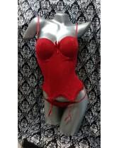 Bustier tipo corset con copa armada Rojo Pasión
