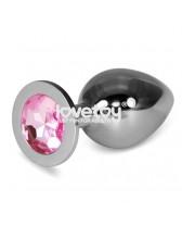 Plug anal de metal con joya Rosebud Classic Metal Plug L(Silver)