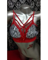 Bralette tipo animal print Red Zebra