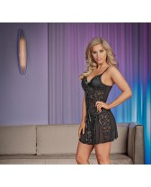 Babydoll y tanga que hace juego Nightfall Chemise & G-set
