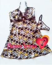 Camisón o vestido estampado con tanga a juego Dulzura 1
