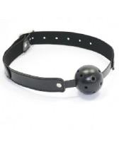 Mordaza de plástico respirable color negro Ball gag