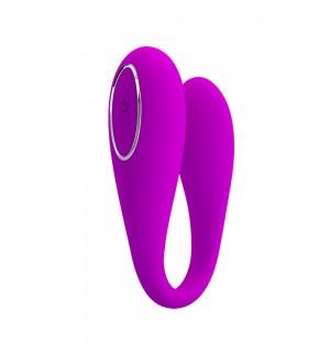 Vibrador para parejas controlado por App para clítoris y Punto G Pretty Love August