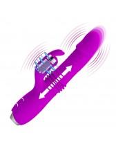 Vibrador rabbit con función de empuje recargable Pretty Love Dorothy